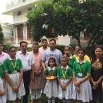 captain abhimanyu celebrating Raksha Bandhan with school kids (2)